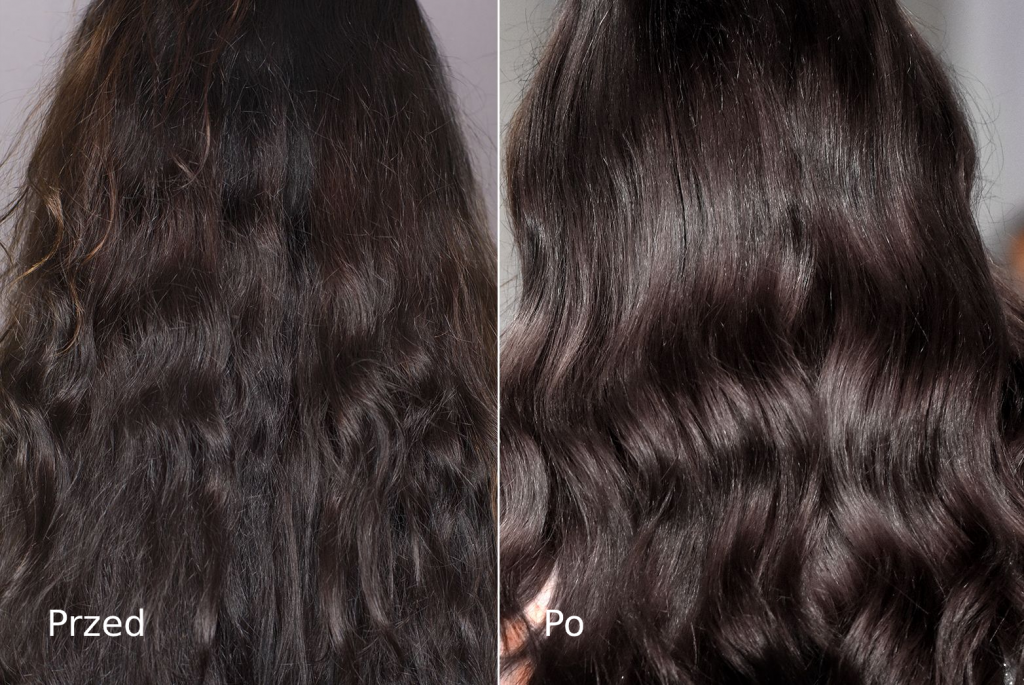 Nanoil Keratin Hair Mask - przed i po